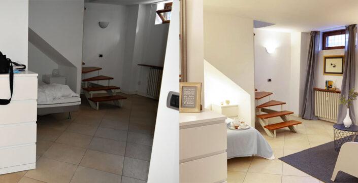 Prima e dopo: appartamento via Arimondi 9 Milano