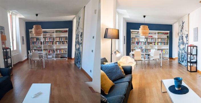 Prima e dopo: Appartamento Strada della Carità 8 Milano